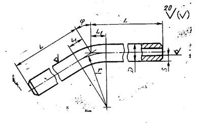 линзовый отвод, отвод для термометров, гнутые отводы