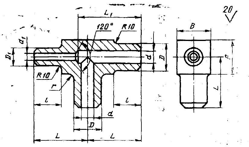 стальной тройник