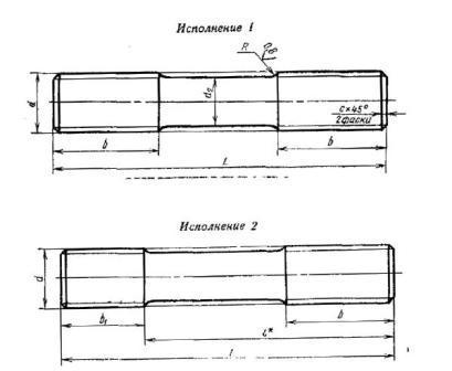 резьбовая шпилька, производство резьбовых шпилек, фланцевая шпилька