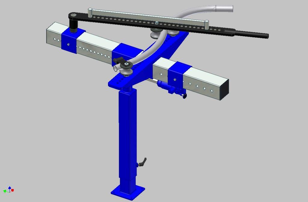 Ручной трубогиб для гибки с переменным радиусом